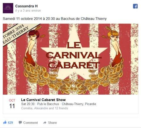 Le Carnival Cabaret au Baccus